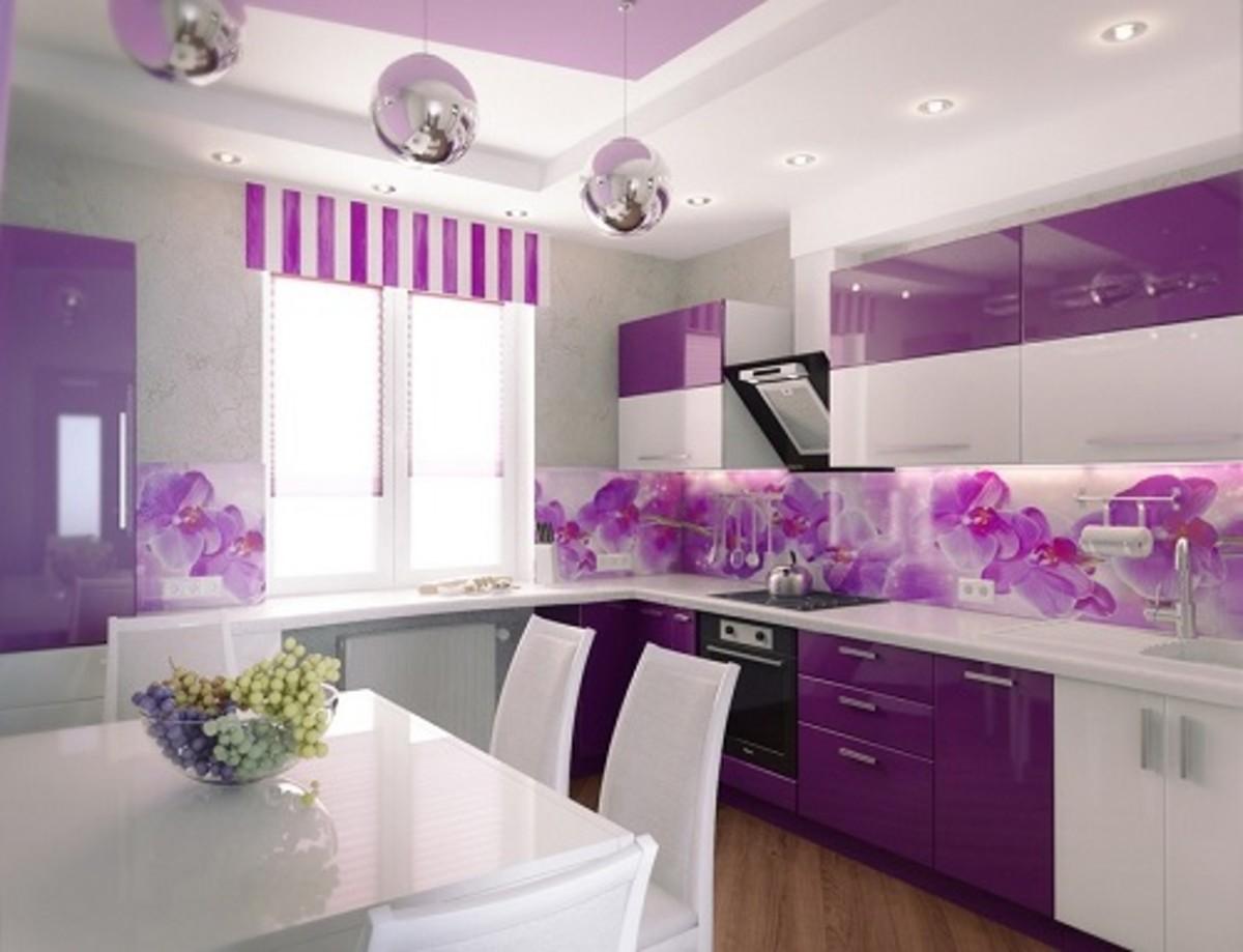 Perfect Purple Kitchen