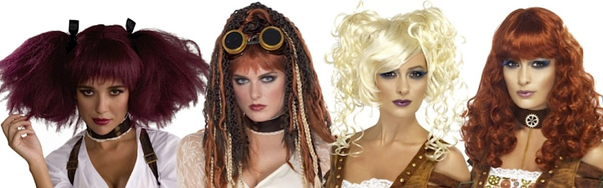 Steampunk Wigs for Halloween or Cosplay Costumes