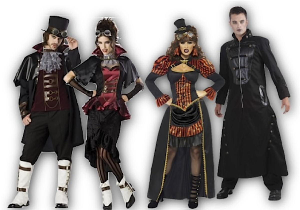 Victorian Steampunk Vampire Costumes