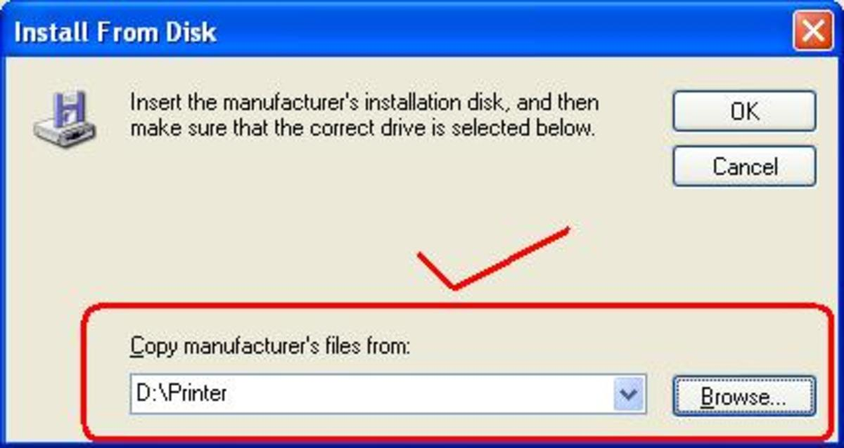 Choose option install from disk