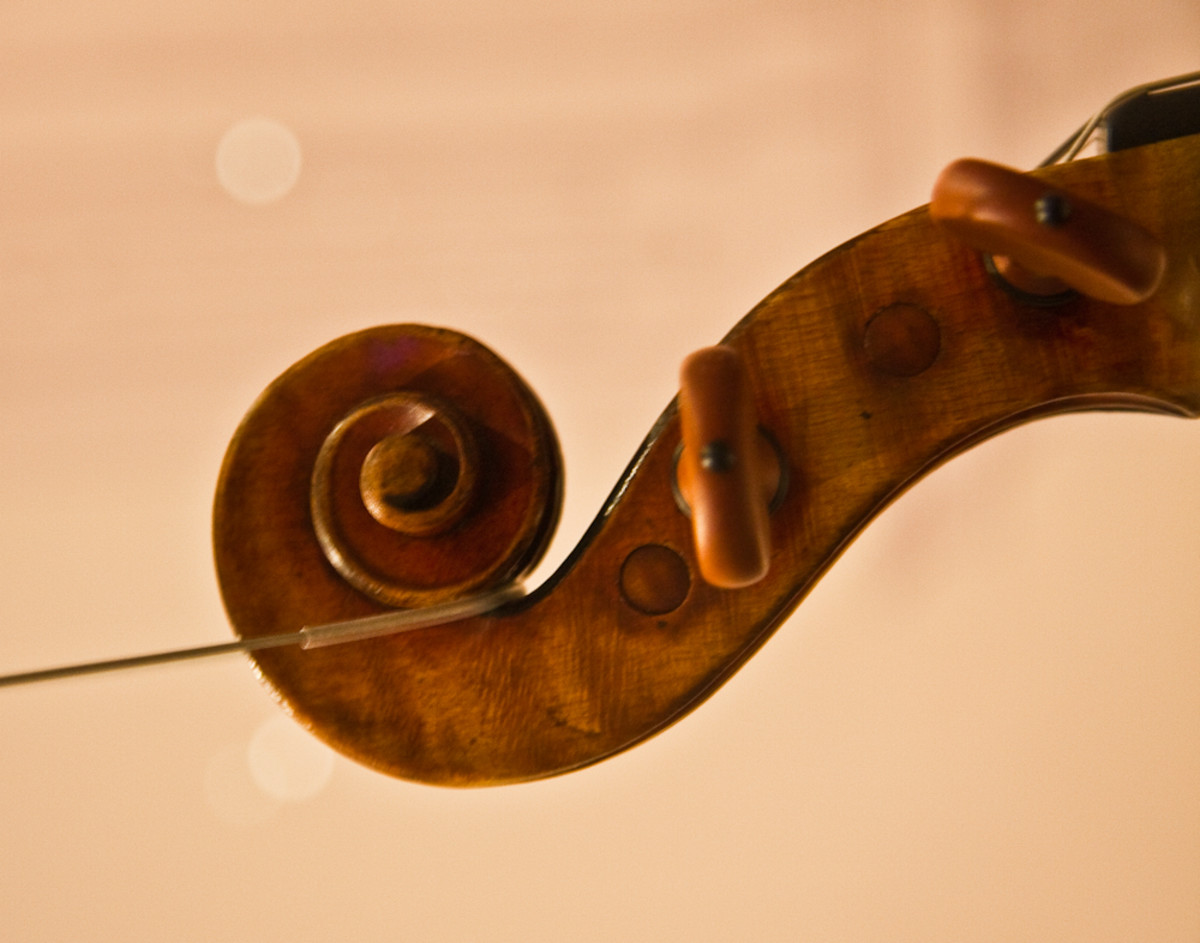 Scroll of the Viotti Ex-Bruce 1709 Stradivarius violin