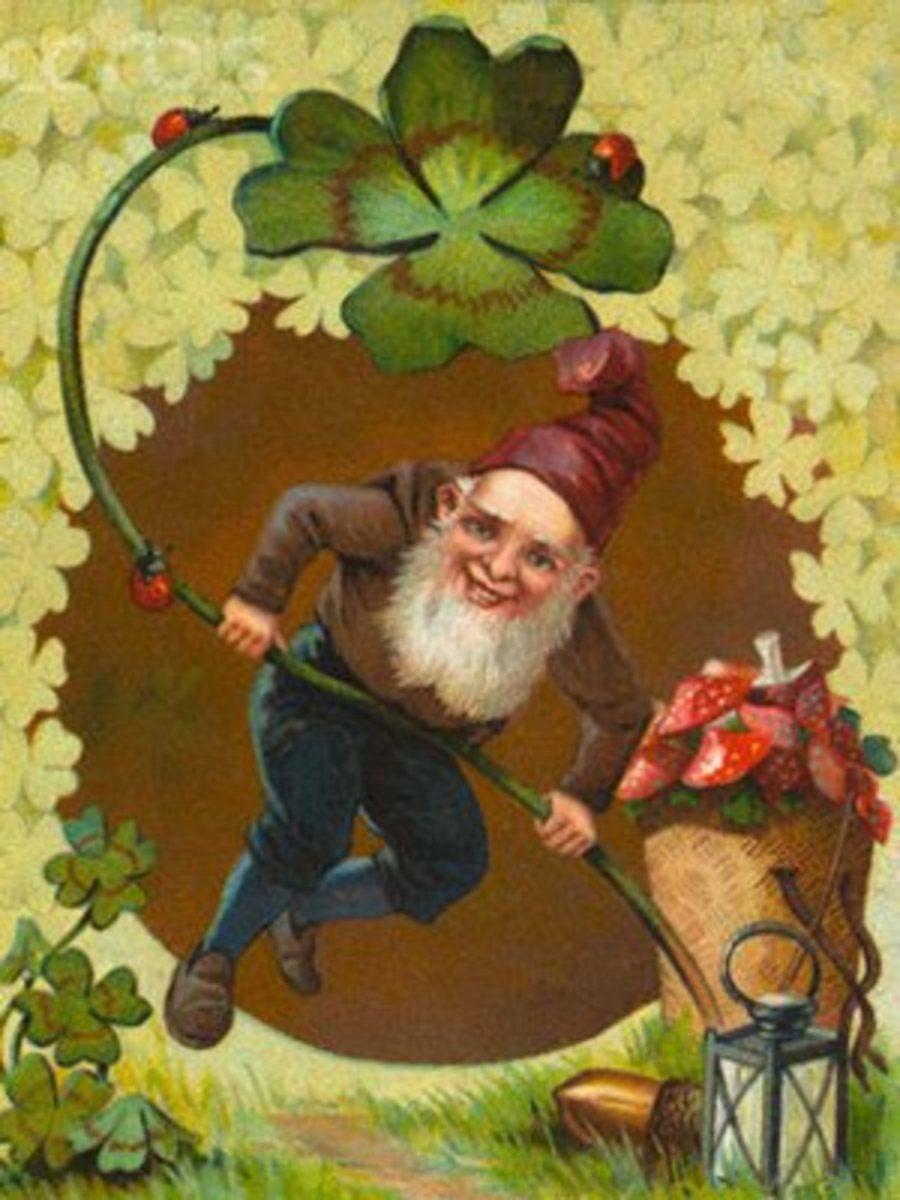 A Victorian representation of a Leprechaun.