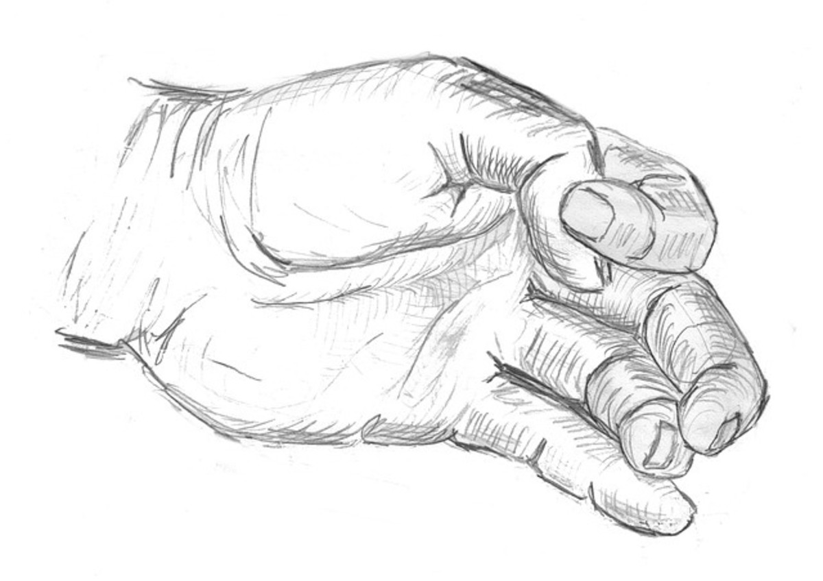 Drawing your hand can be quite a challenge.