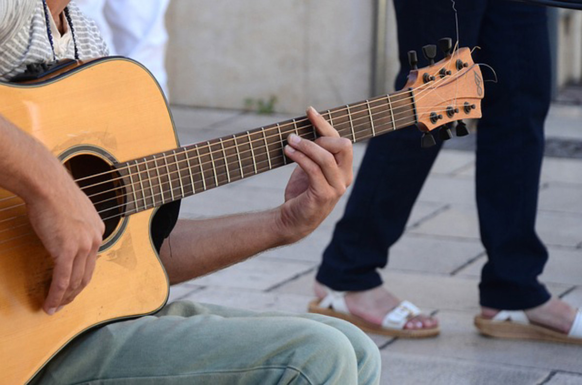 The guitar is a popular stringed instrument