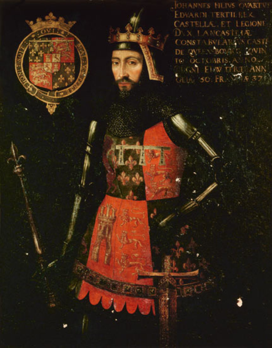 John of Gaunt was the son of Edward II, father of Henry IV and grandfather of Henry VII.