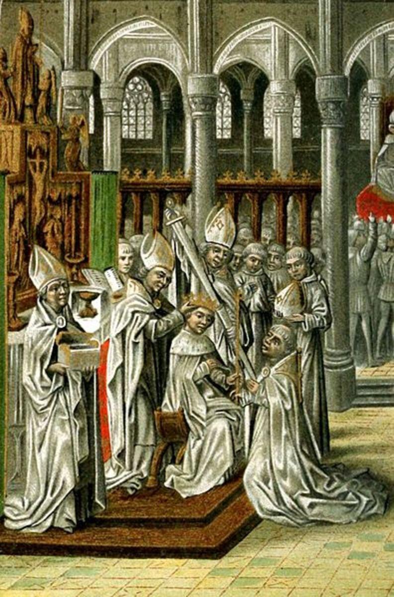 The coronation of Henry IV after deposing Richard II of England