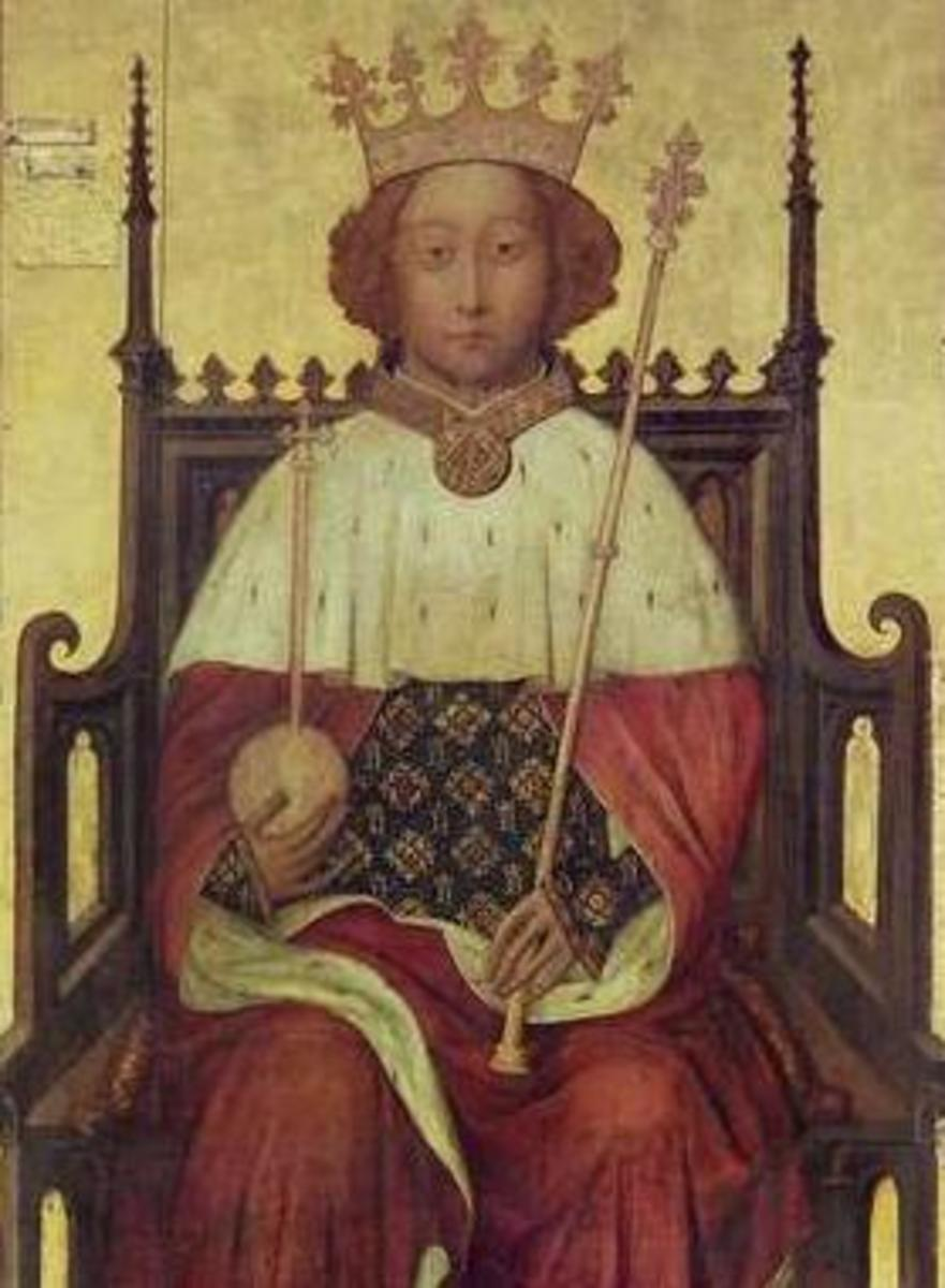 The coronation of 10-year-old Richard II