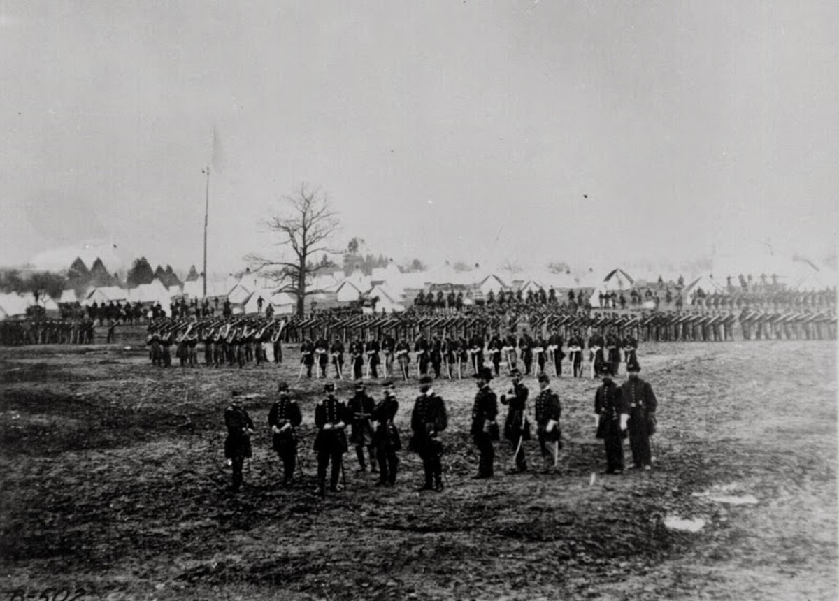 A New York Volunteer Regiment posing for a photograph