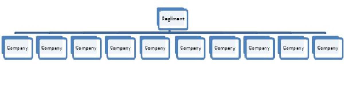 Figure 1: A Regiment subdivided into ten Companies.