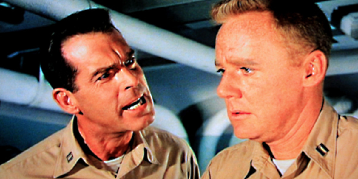 Tom Keefer - full of bravura - urges Steve Maryk to take action against Queeg