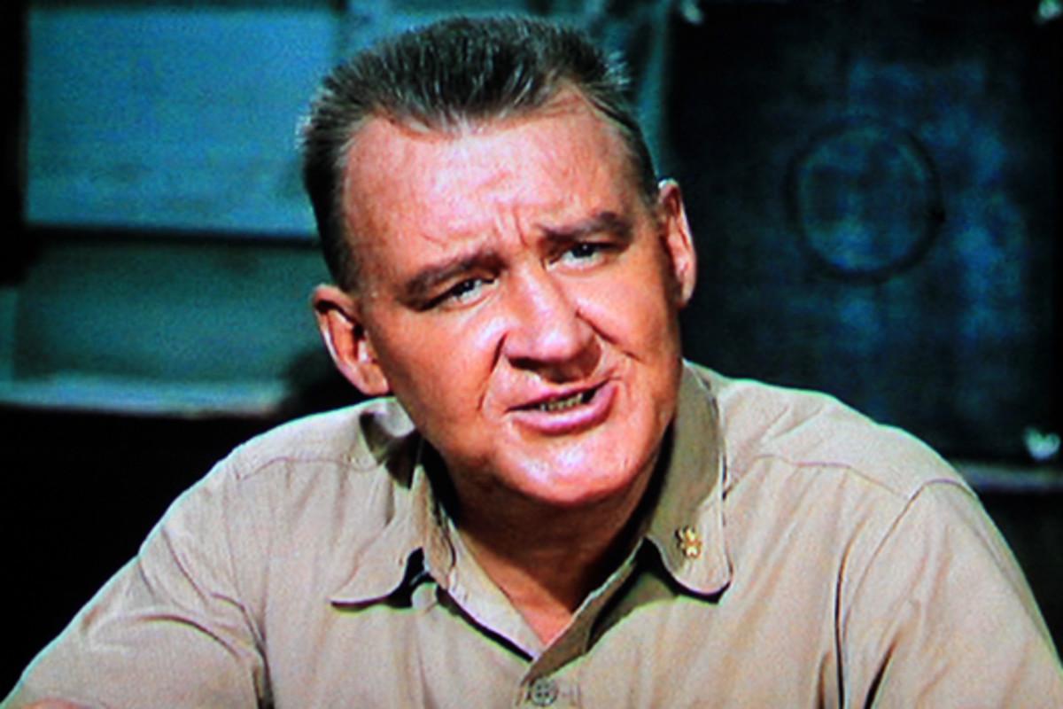 Tom Tully plays Captain William DeVriess