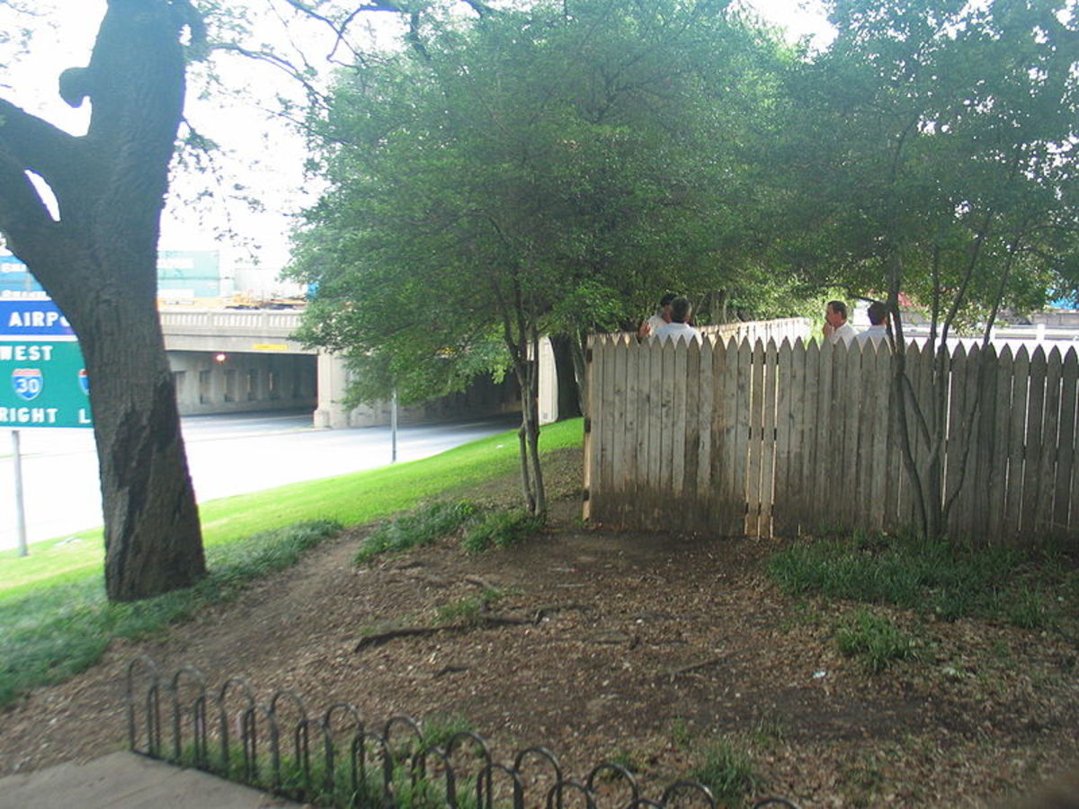 Wooden Fence on the Grassy Knoll.