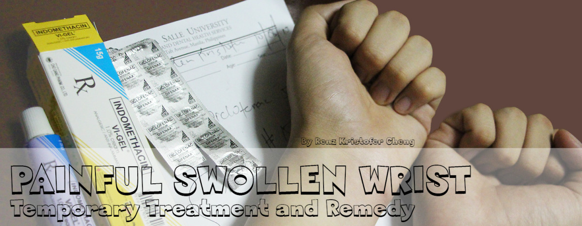 Temporary Remedy and Treatment for Painful Swollen Wrist