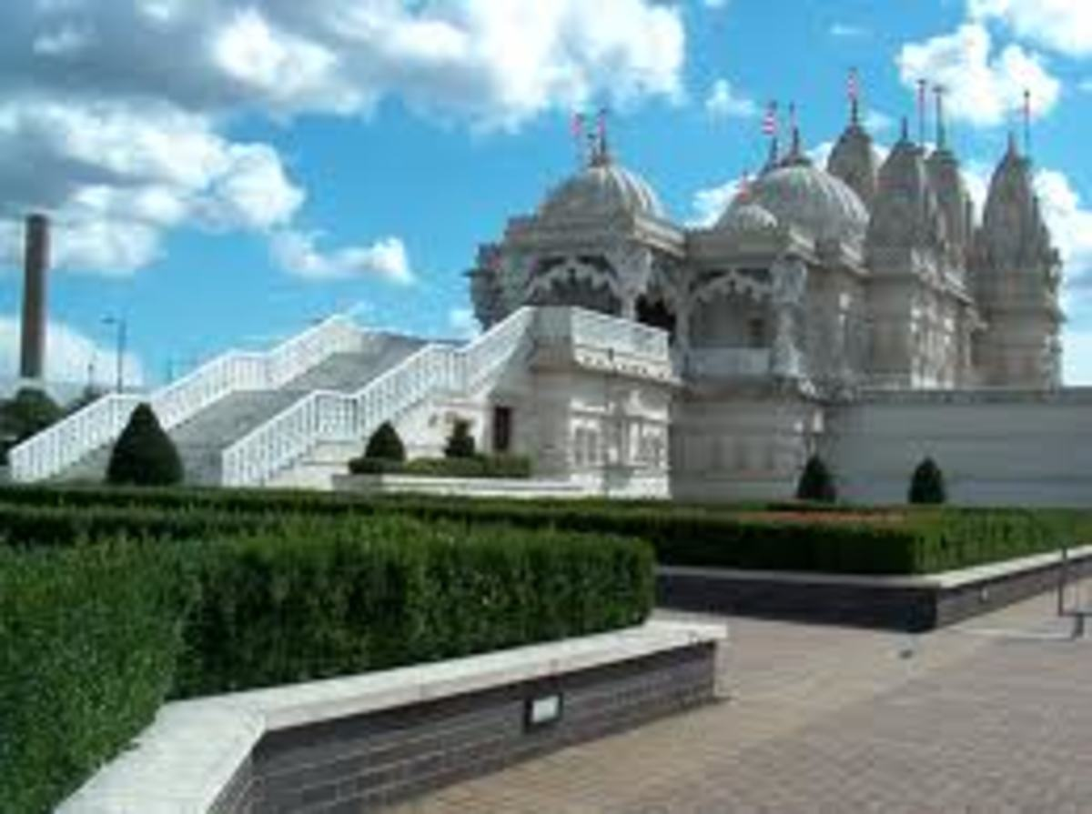 The Neasden temple: People will often move close to their place of worship.