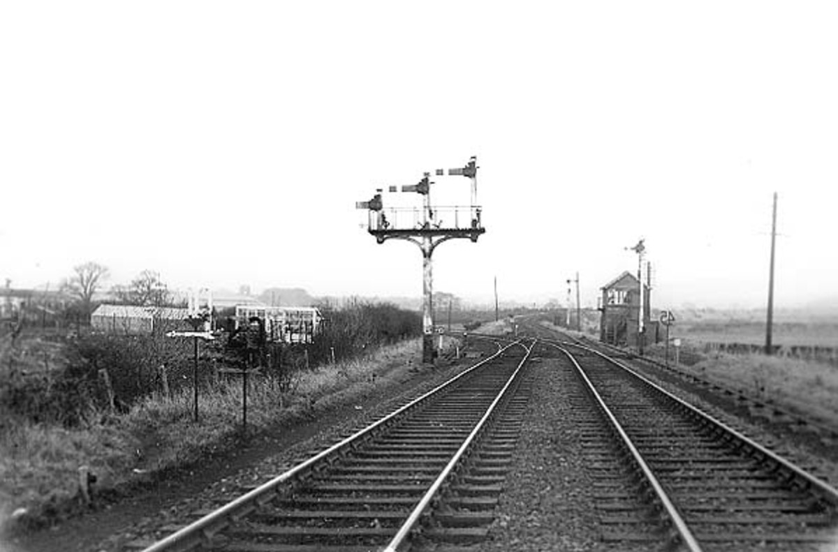 A view east of Hutton Junction. To the left is Guisborough Station, ahead is Slapewath and Boosbeck