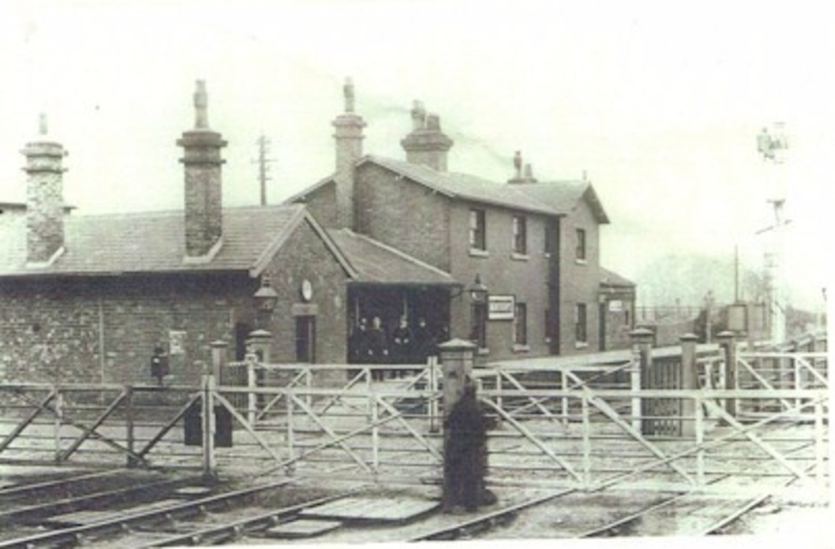 Nunthorpe Station 1887, twenty-three years after the North Eastern Railway absorbed the Stockton & Darlington Railway and its branches - platform level was raised in the later 19th Century according to requirements to ease alighting and boarding