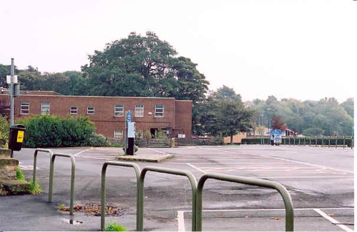 This is where Guisborough Station used to be - now a health centre and car park behind Westgate