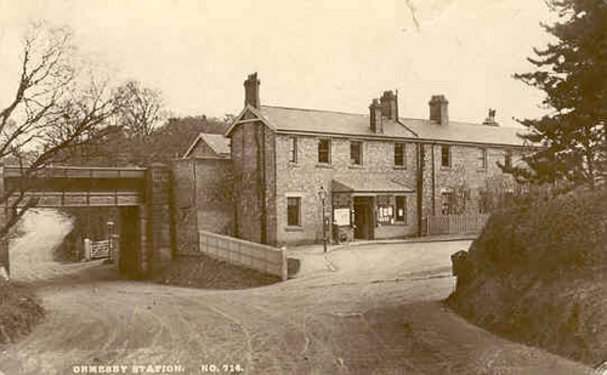 Ormesby Station as it was at around the turn of the 20th Century, well before road widening and house building in the neighbourhood. The station was over a mile west of the village