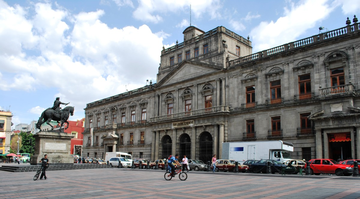 Facade of the Colegio de Mineria museum on Tacuba Street in the historic center of Mexico City. Photo taken July 9, 2009.