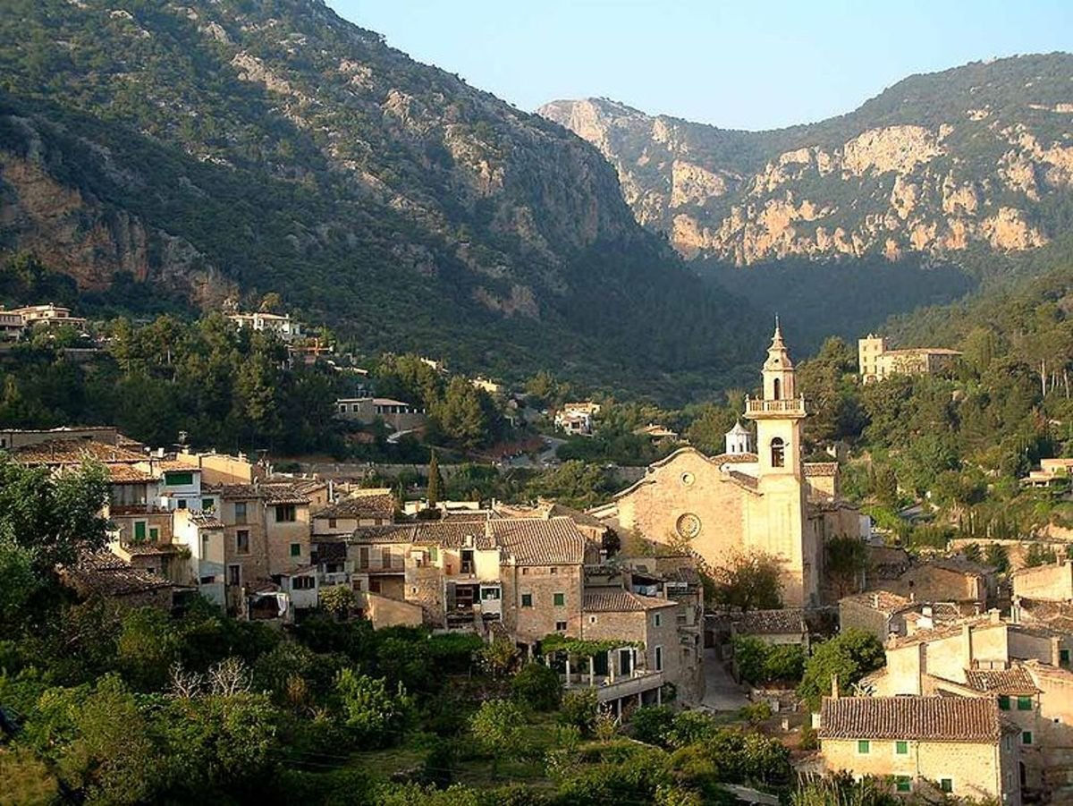 The monastery of Valldemossa, Mallorca, now rental accommodations.