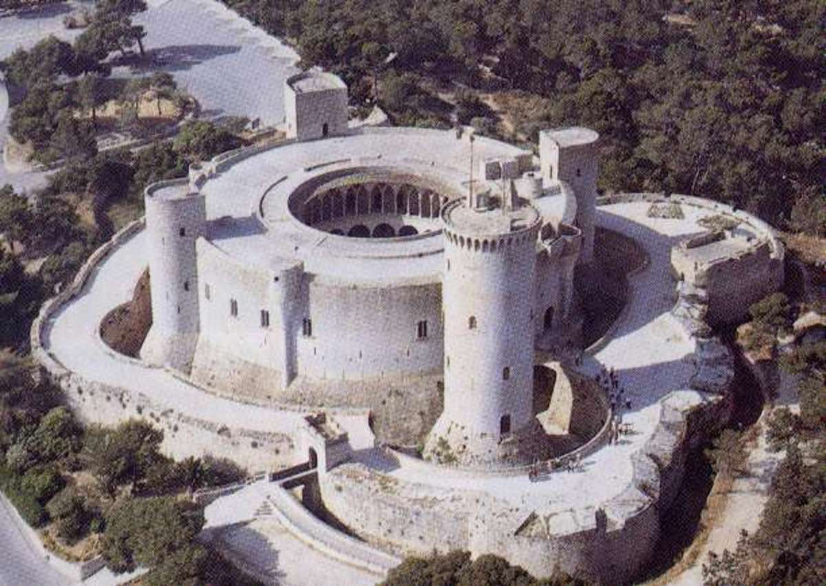 Castillo de Bellver, on a hill near Palma, Mallorca