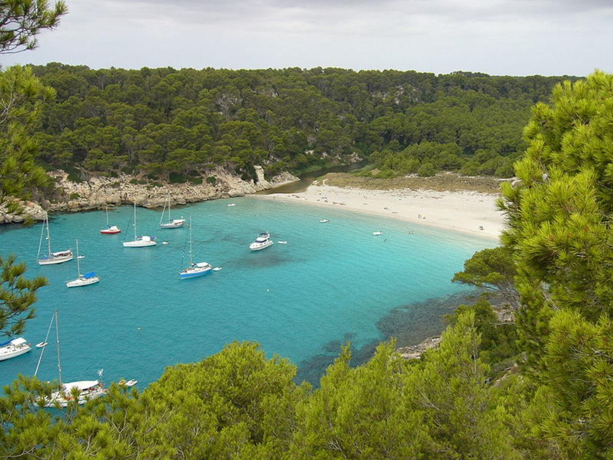 Cala Trebaluger in Menorca