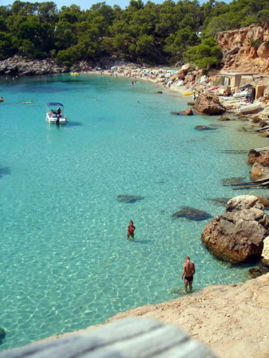 Ibiza beach.