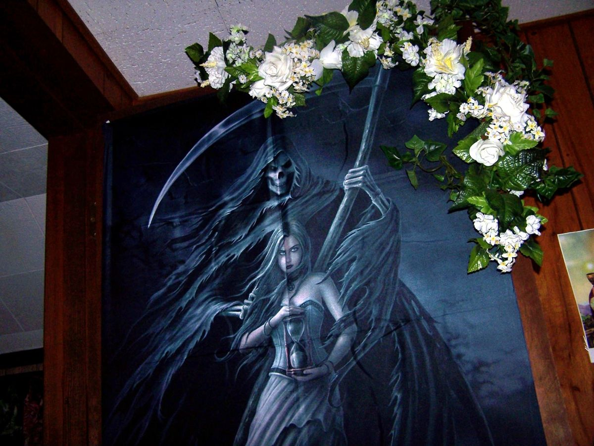 "Like Fantasy Art?  You'll Love Anne Stokes ""Summon The Reaper"" Fabric Poster"