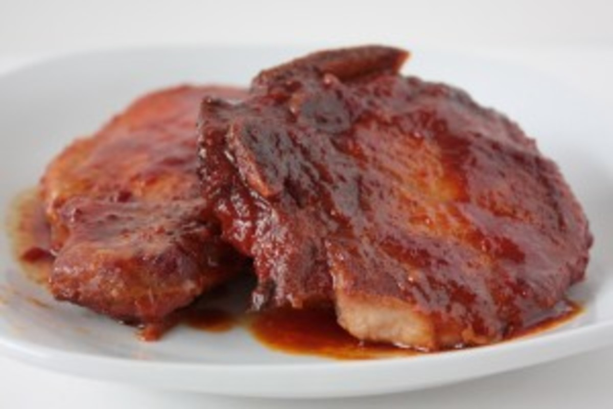 Crock Pot BBQ Turkey Chops