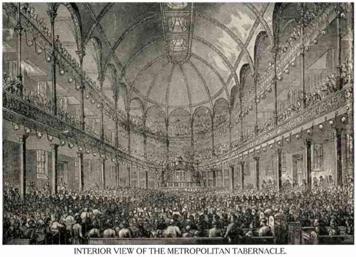 Spurgeon's 10,000 member Metropolitan Tabernacle.