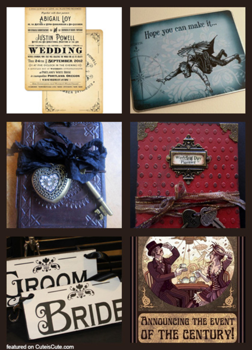 Great pictureboard of Steampunk Stationary