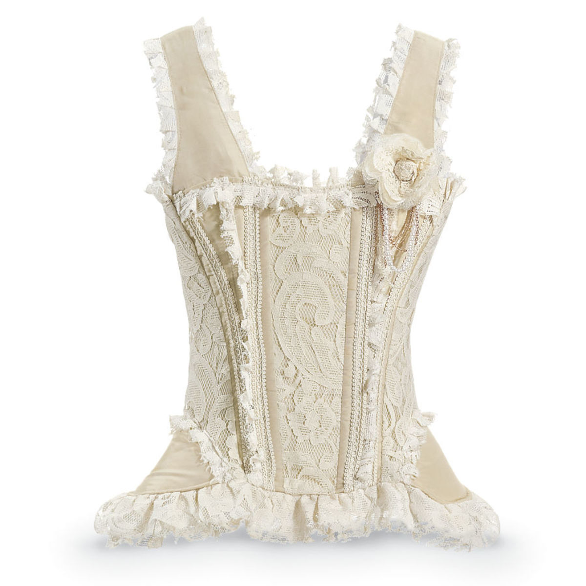 Venetian Lace and Taffeta Corset $140