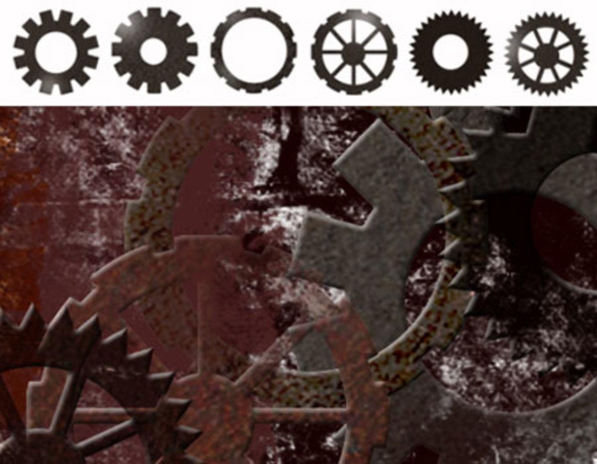 Illustration of Steampunk Gears.