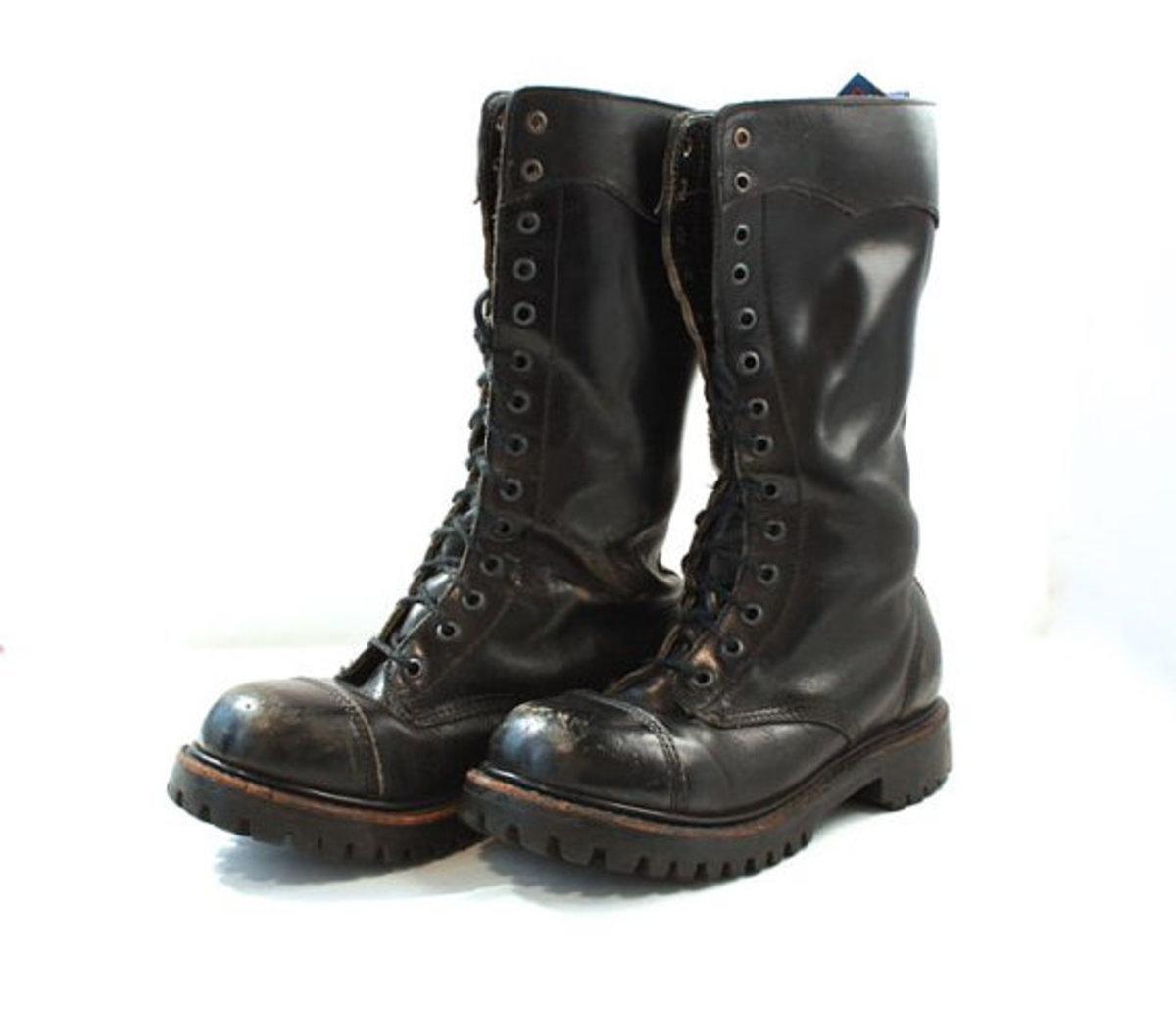 80s Punk Fashion: Combat Boots