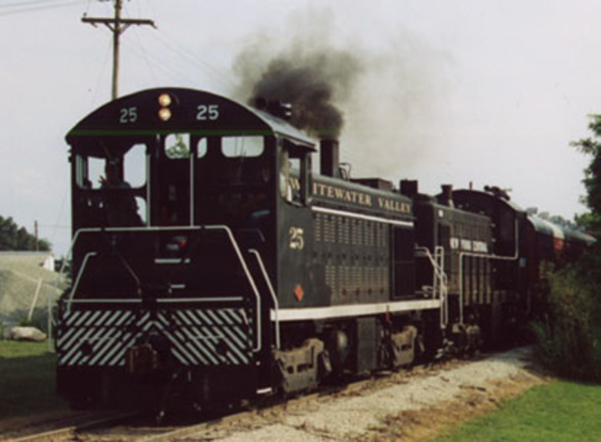 Visitors can take the Whitewater Valley Railroad from Connersville to Metamora