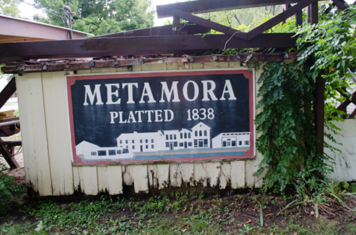 Metamora was platted in 1838 along the route of the Whitewater Canal