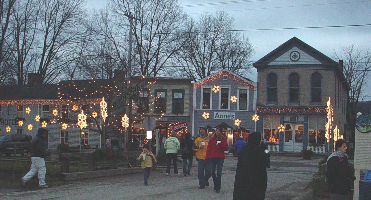 The Christmas Walk is the most popular event at Metamora