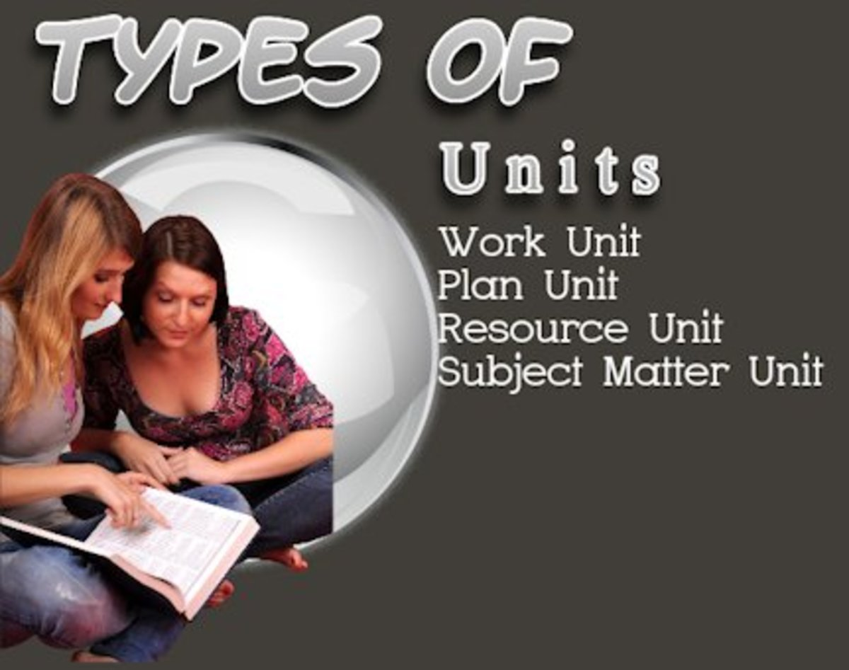 There are Four Basic Types of Units.