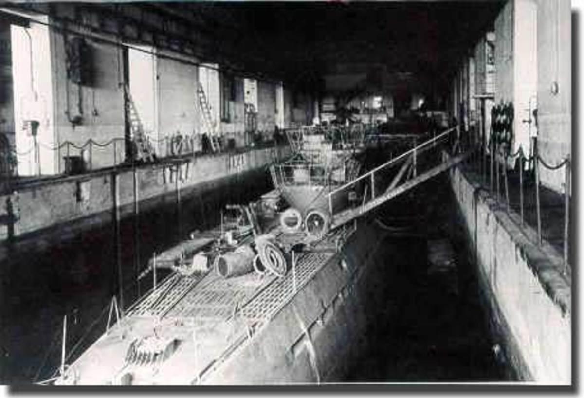 U-Boat under repair at St Nazaire