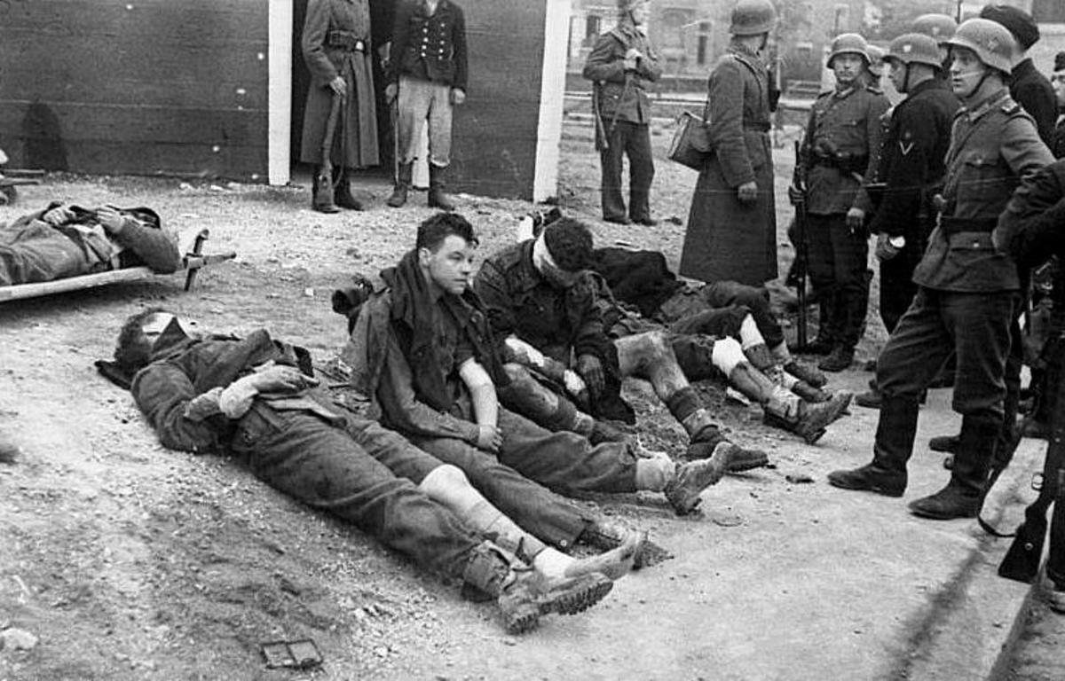 Injured and captured British Commando's