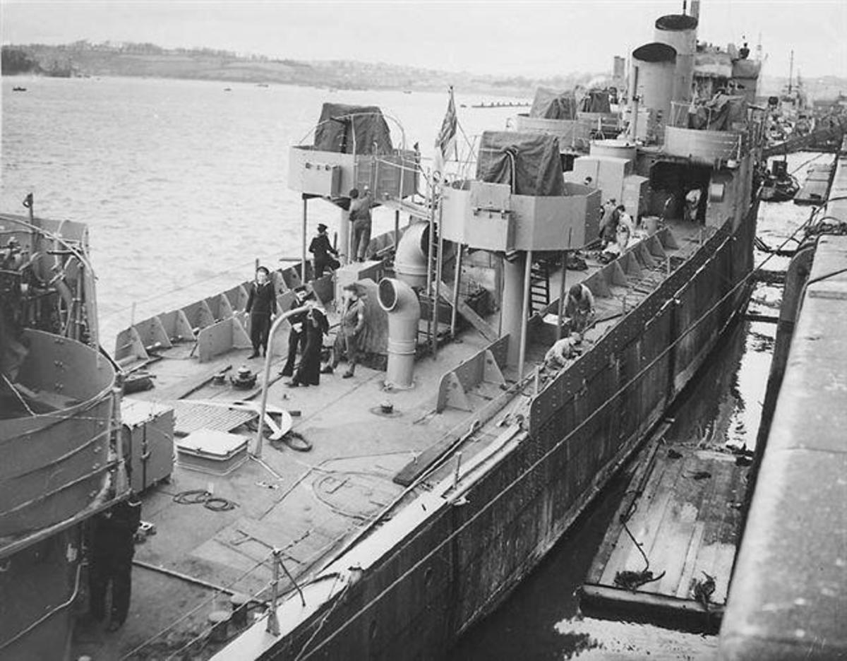 Work being carried out on her modification