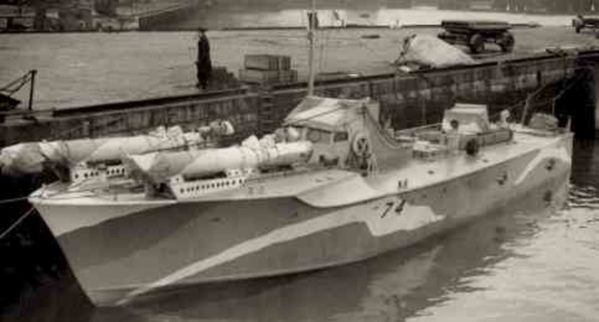 MTB74 Vosper torpedo boat