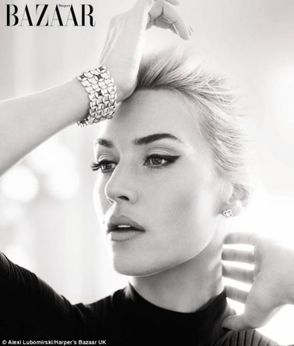 Kate Winslet appearing in Harper's Bazaar UK 2013