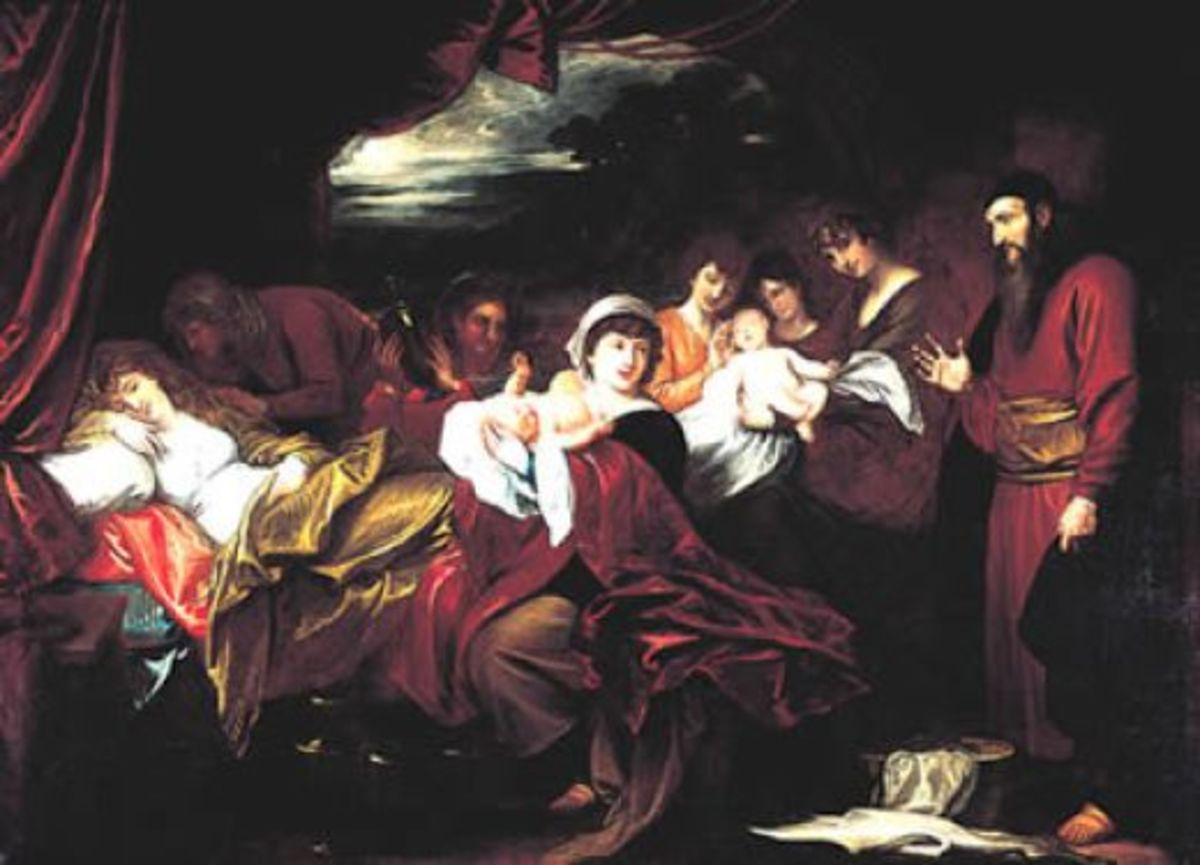 The Birth of Twins Jacob and Esau
