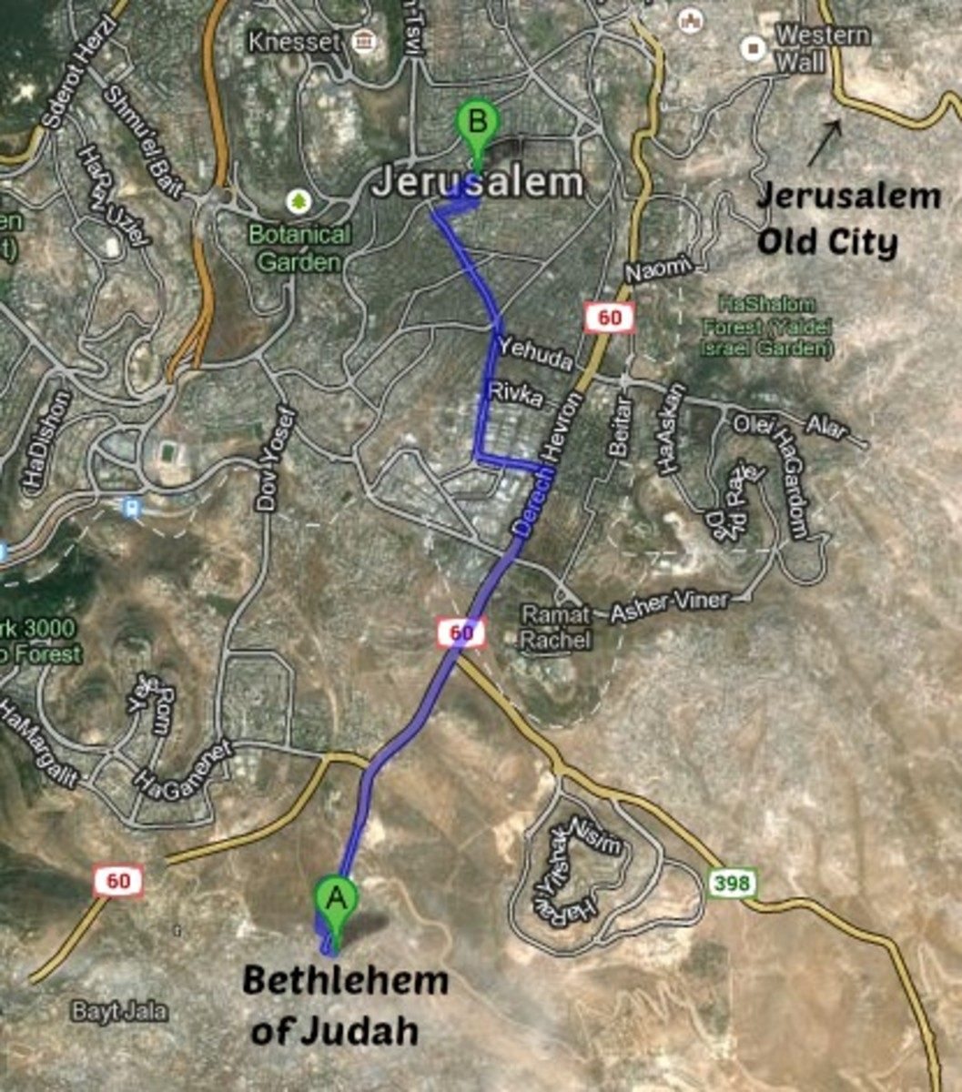 Bethlehem of Judah Map