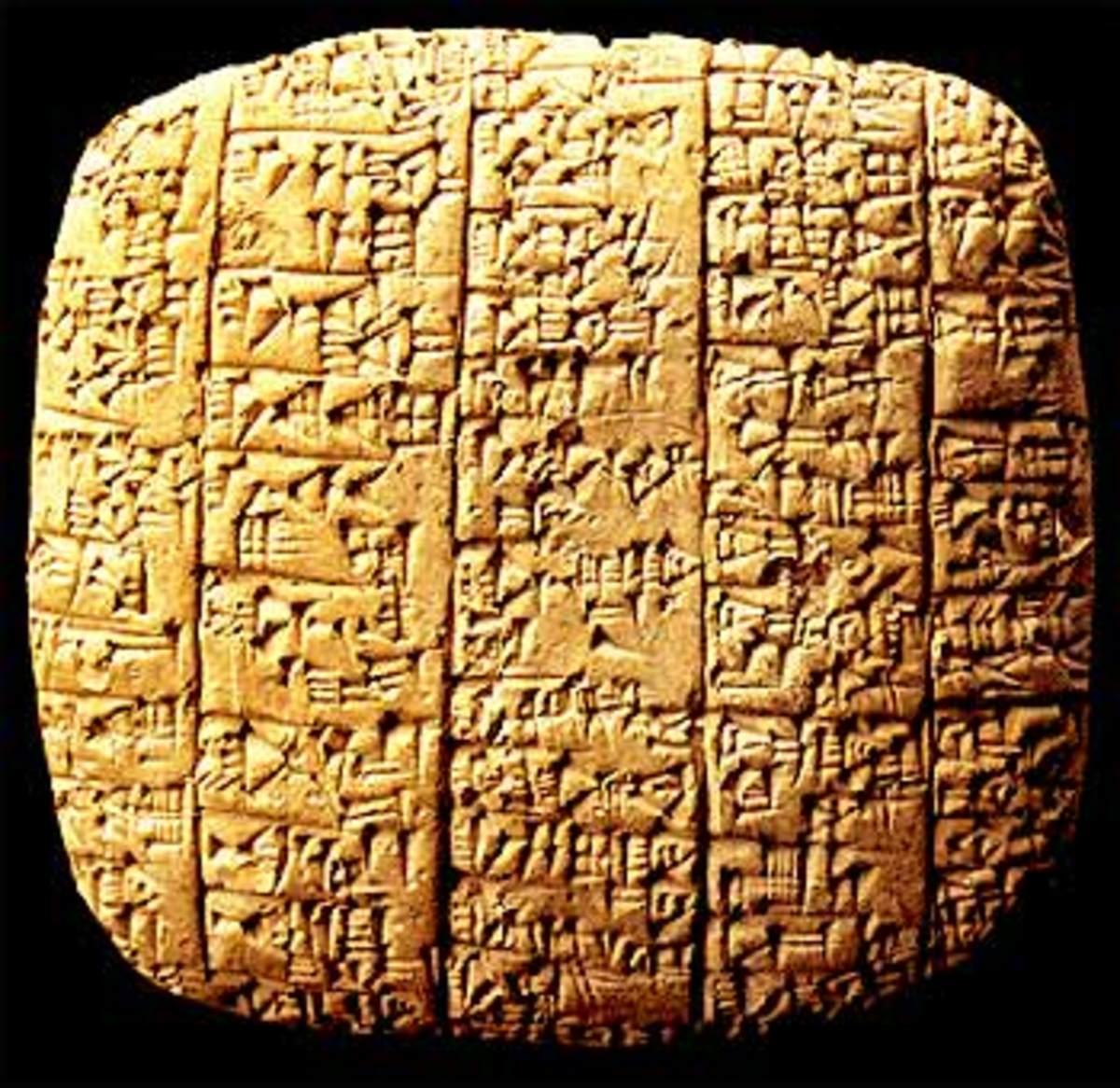 Ebla Tablets, circa 2300 BCE
