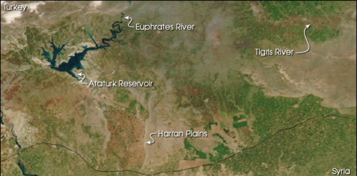 The Plains of Harran Identified by NASA Earth Observatory