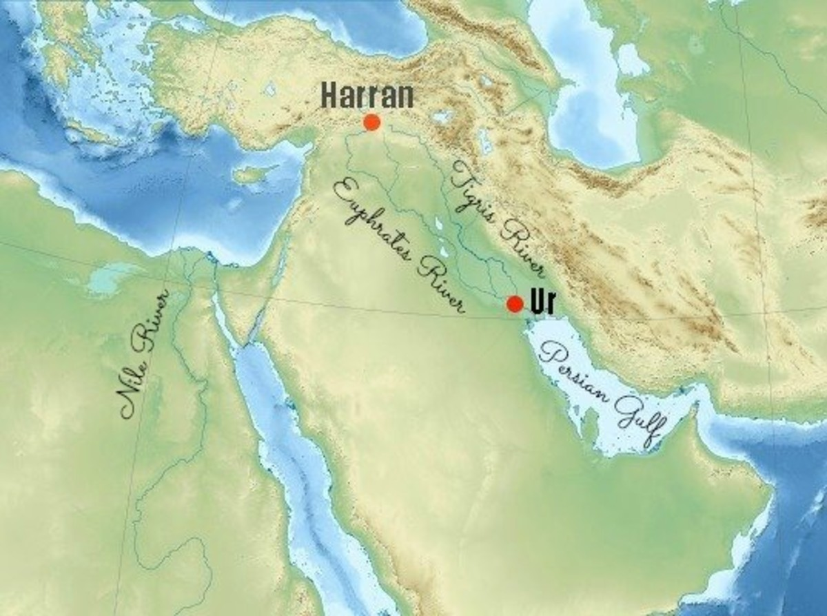 Map of Terah's Journey from Ur to Harran