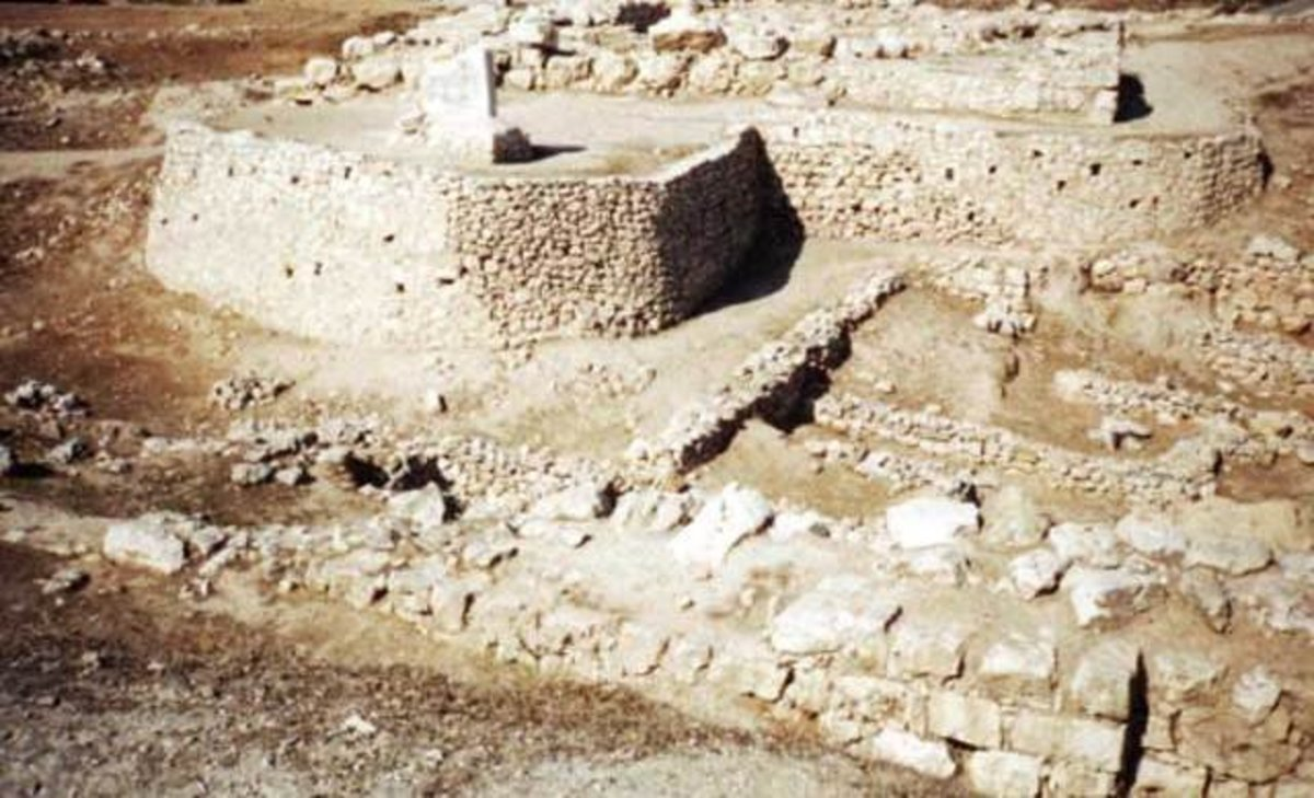 An altar in the ruins of ancient Shechem