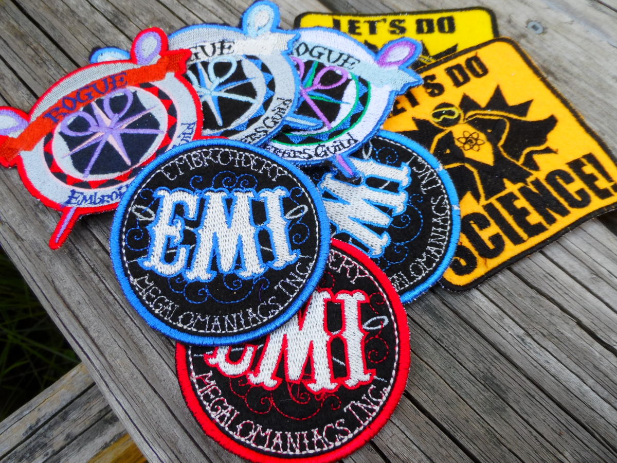 Patches in bright vibrant colors are snapped up by collectors of interesting patches.